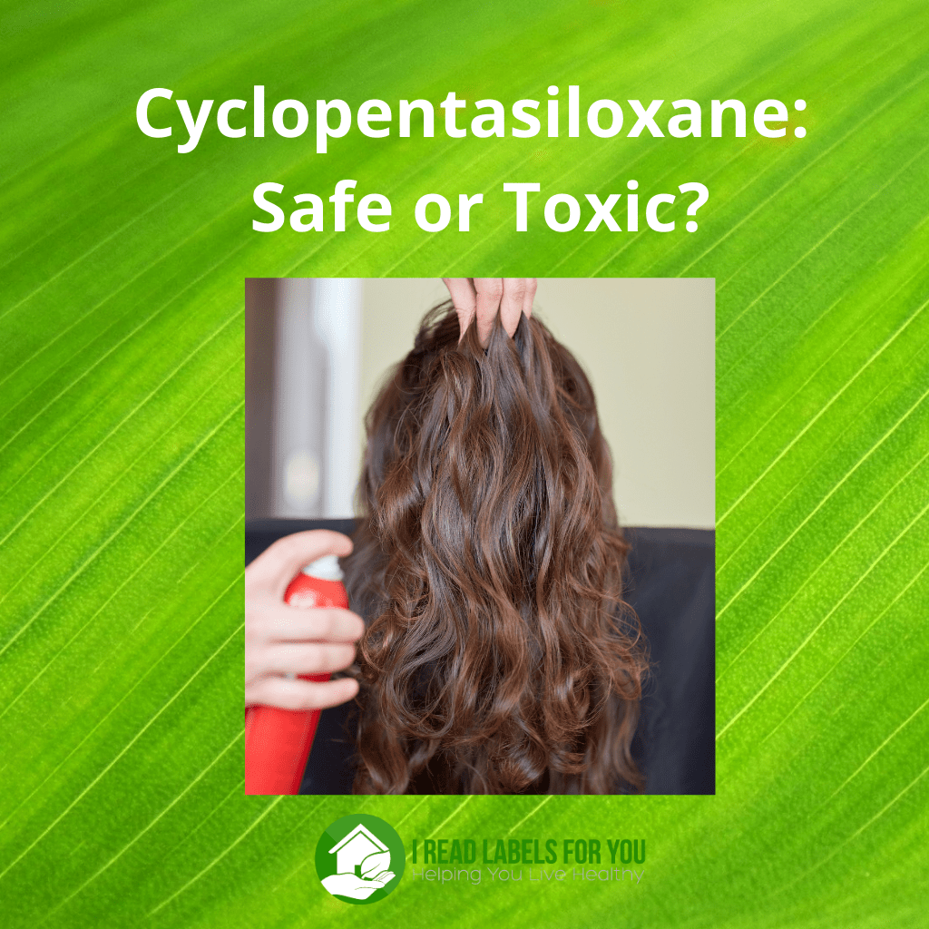Cyclopentasiloxane - Safe or Toxic? A picture of the use of cyclopentasiloxane in skin care and hair care.