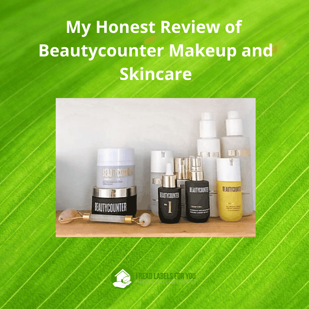 My Honest Beautycounter Review. The picture of Beautycounter makeup and skincare products.