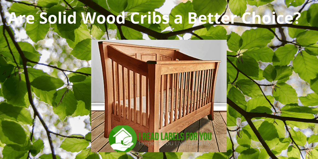 Solid Wood Cribs for kids. A photo of a wooden crib.
