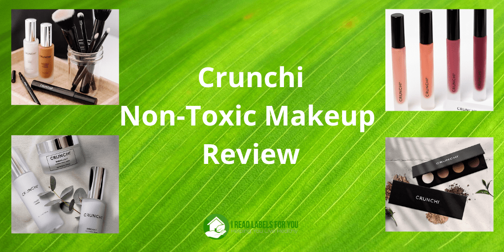 Crunchi Non-Toxic Makeup Review. A collage of Crunchi makeup.