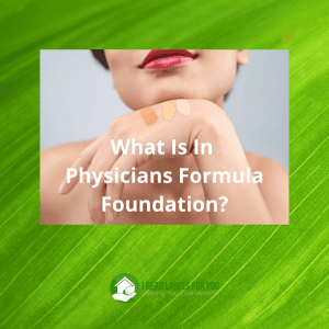 Physicians Formula Foundation. A picture of a woman's hand with shades of Physicians Formula the healthy foundation on her hand.