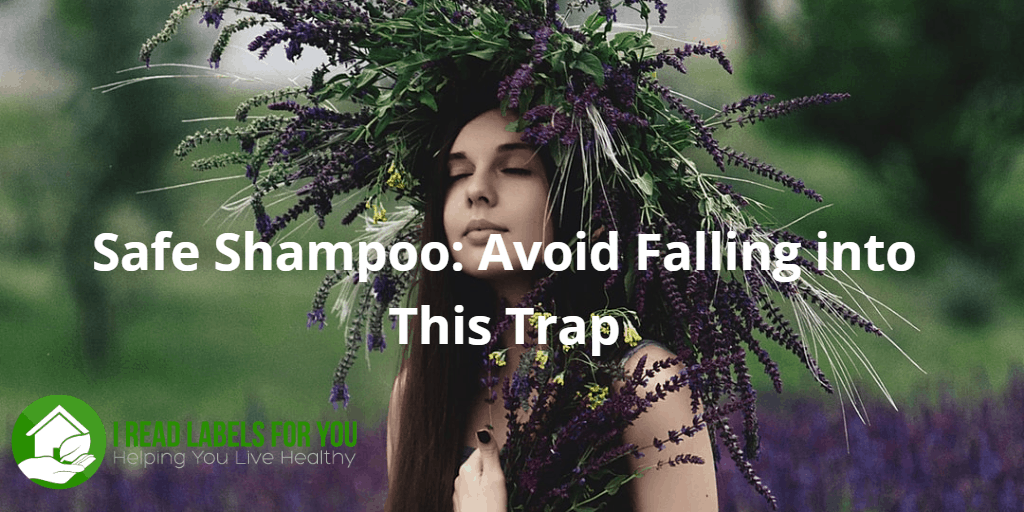 Safe Shampoo: Avoid Falling into This Trap. The picture of a young girl with long hair with a wreath made of herbs on her head holding herbs in her hands.