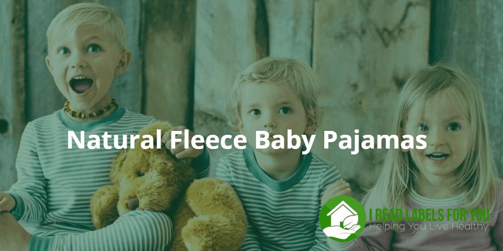Natural Fleece Baby Pajamas. Three kids in natural pajamas.