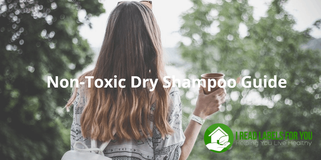 Non-Toxic Dry Shampoo Guide. A photo of a girl with long hair.