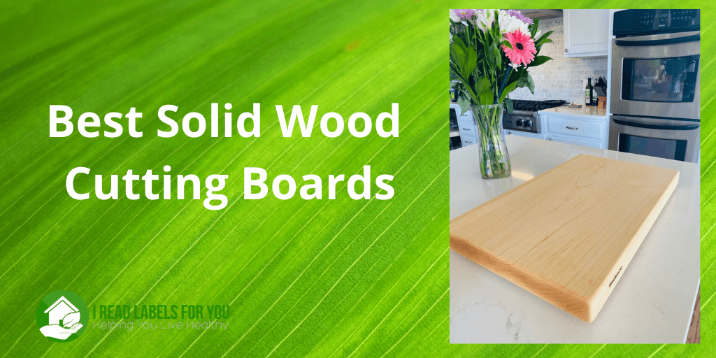 Best Solid Wood Cutting Boards, A picture of a one-piece cutting board on a kitchen countertop.