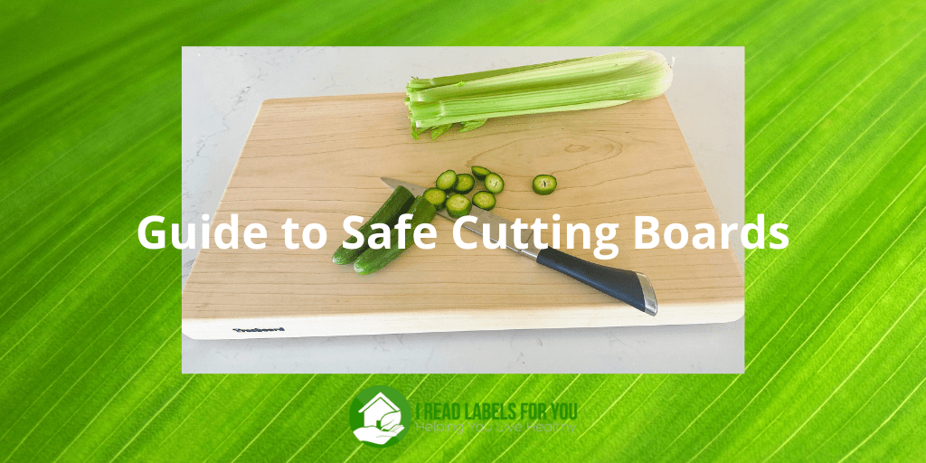 Safe Cutting Boards Guide. A photo of a non-toxic cutting board.