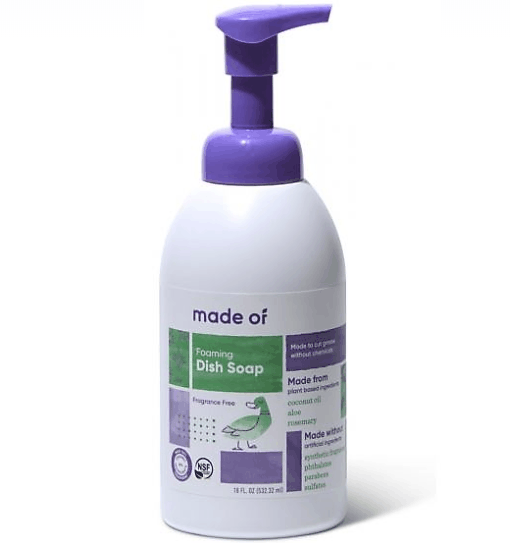 Organic foaming dish soap
