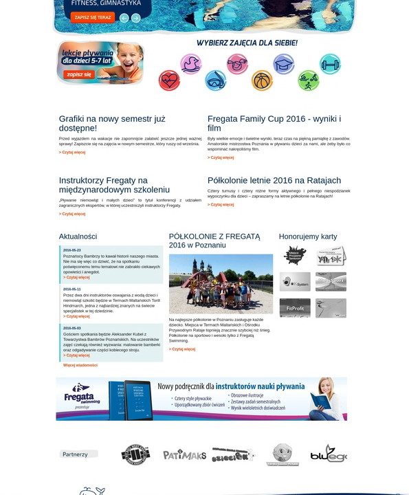 Strona internetowa Fregata swimming