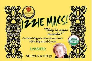 IZZLE MACS Macadamia Nuts Recall