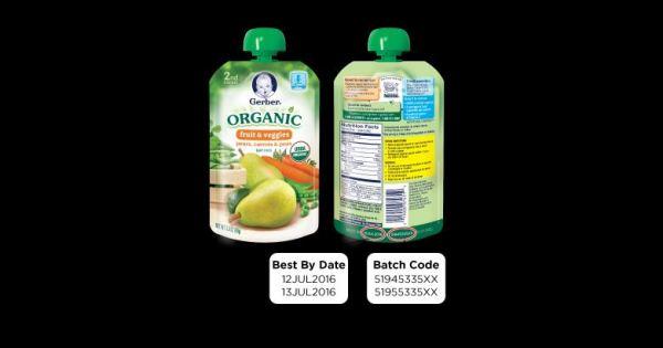 Gerber Organic Foods Recall