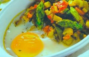 Verduritas con Huevos al plato