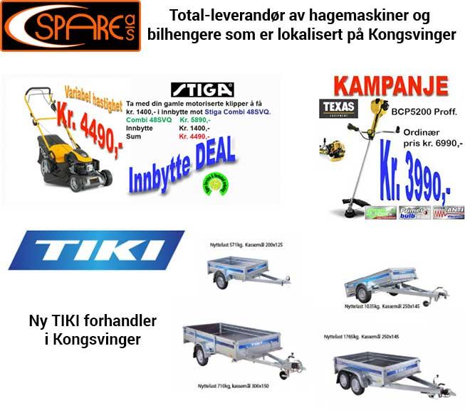 Spare - hageutstyr i Kongsvinger