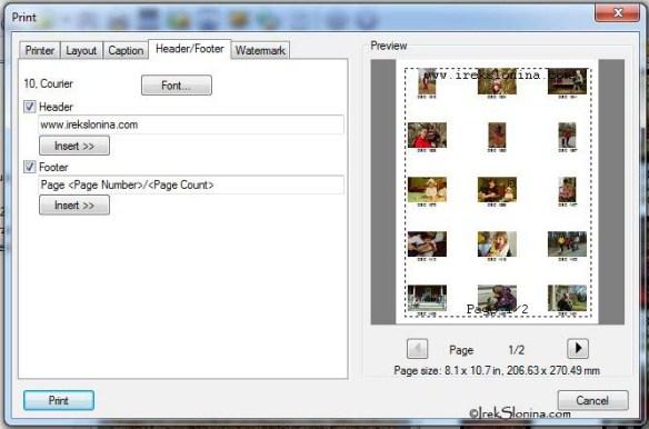 Edit Header/Footer tab.