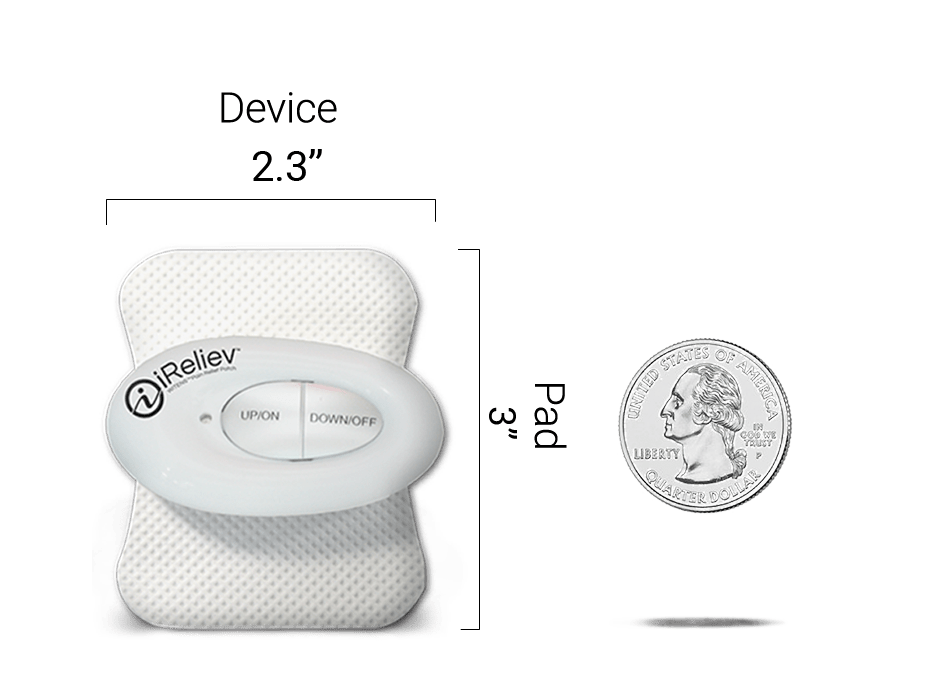 Mini Wireless TENS Unit Dimensions
