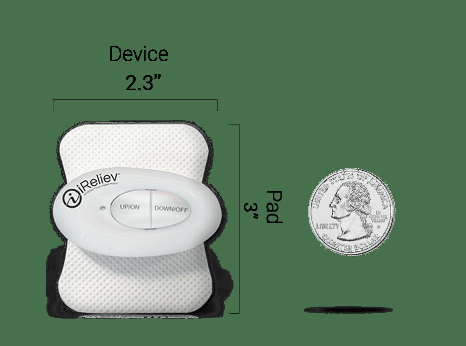 Mini Wireless TENS Unit Dimensions