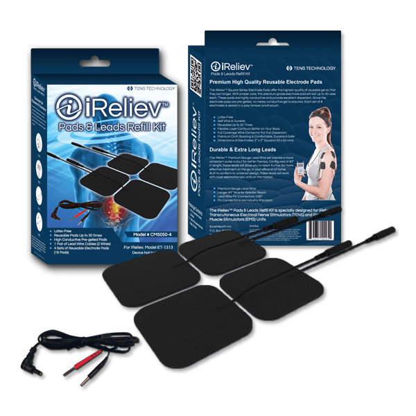CM5050-4 Electrode Pads and Leads Refill Kit for TENS Unit
