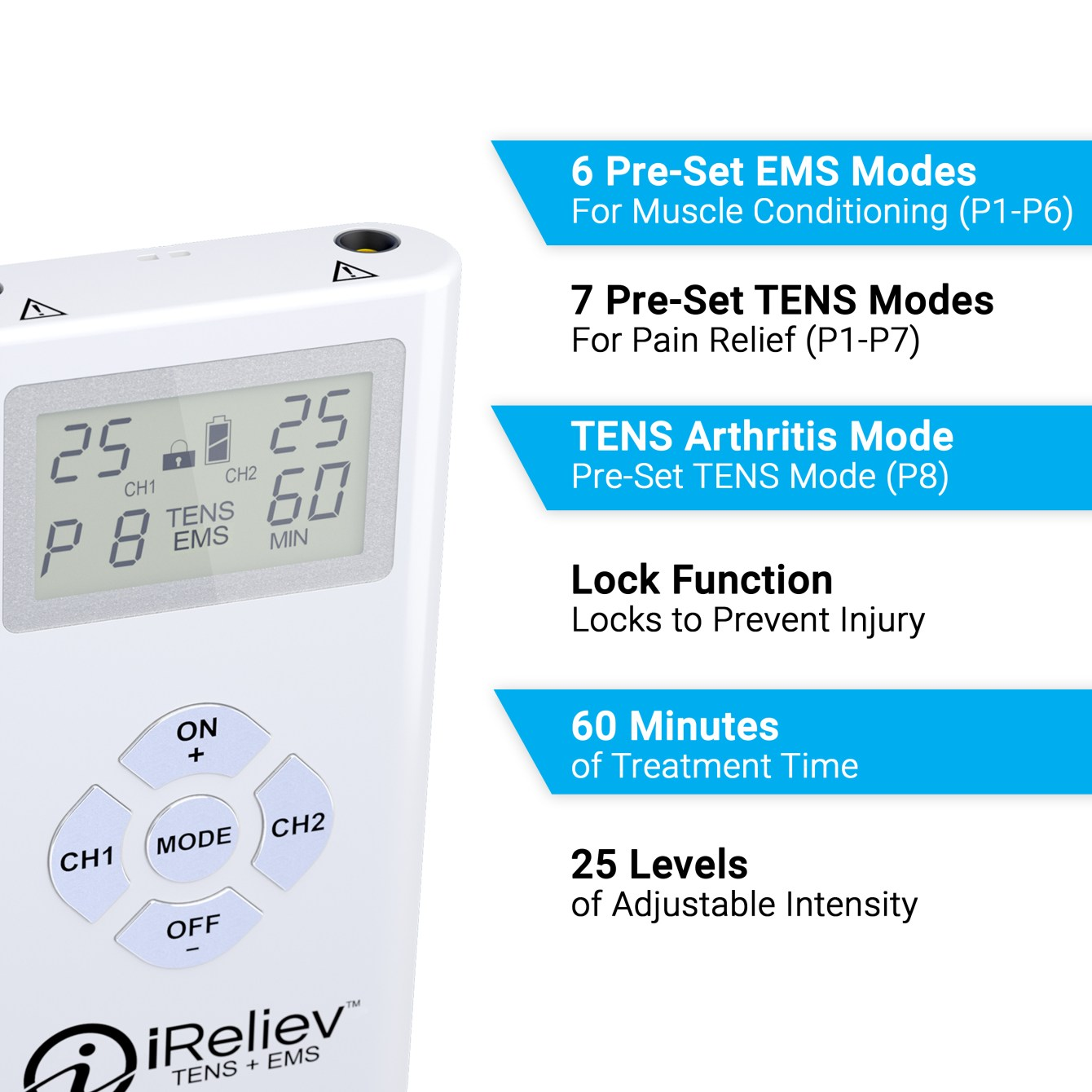 TENS Unit + EMS Muscle Stimulator