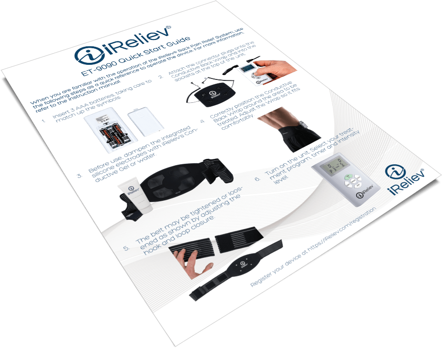 ET-9090 TENS Unit Back Pain Relief System Quick Start Guide