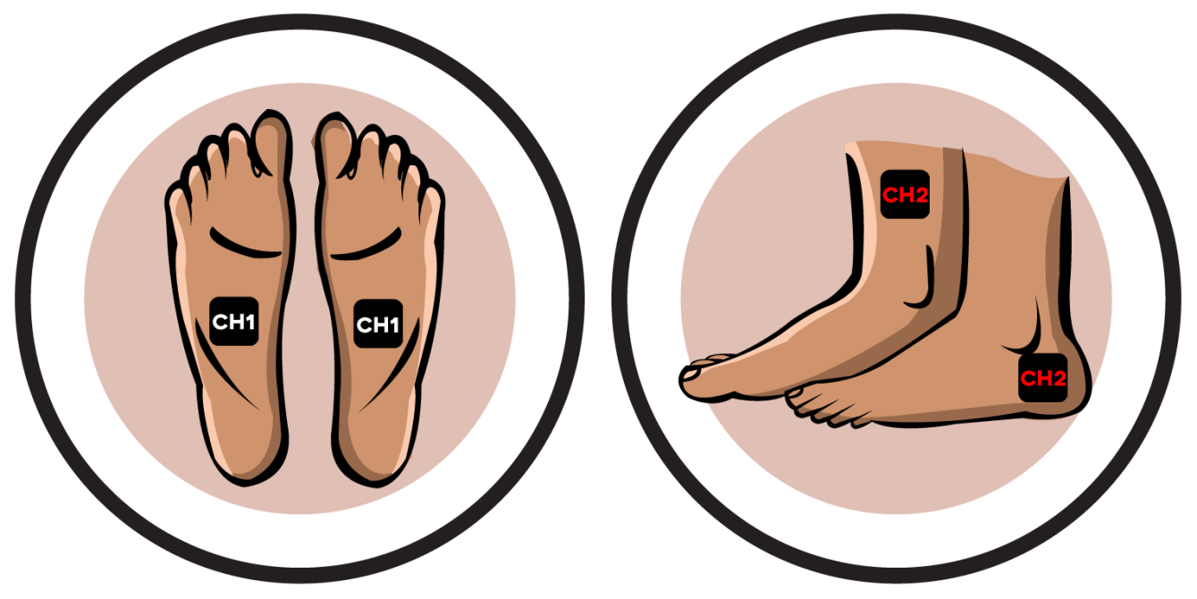 Feet Electrode Pad Placements