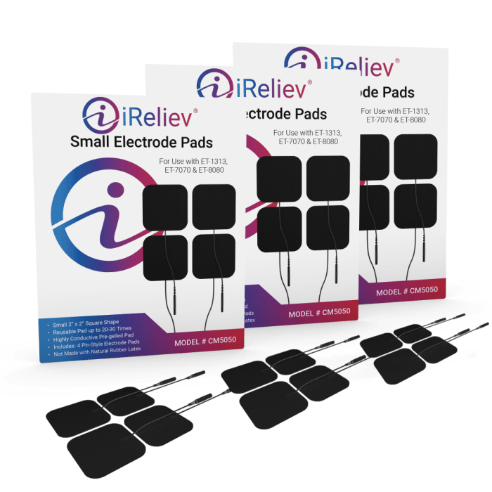 iReliev CM5050 Small Pads 3 Pack