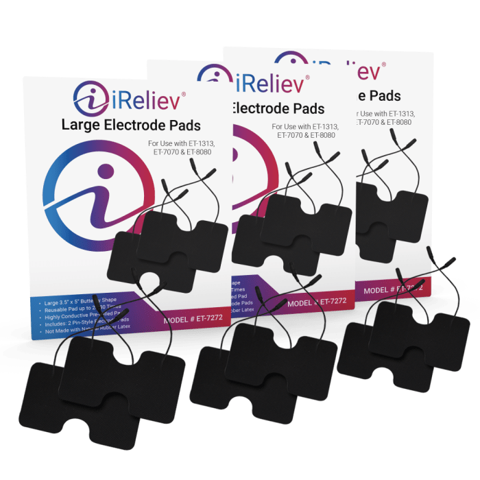 iReliev ET-7272 3 Pack of Large Pads