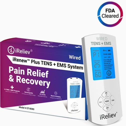 TENS unit Ems System, TENS units, iReliev, Pain Relief, ET-8080, Muscle Stimulation