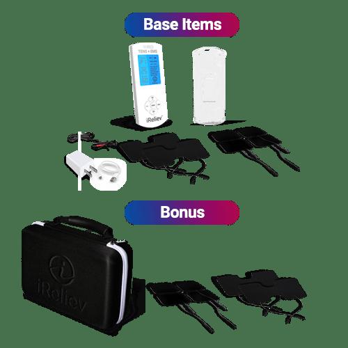 iReliev TENS + EMS Premium System Bundle