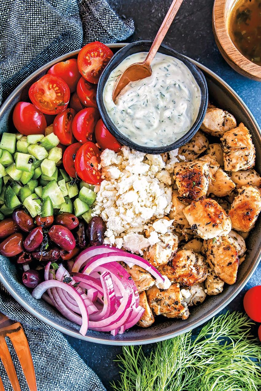 Low Carb Greek Chicken Bowls