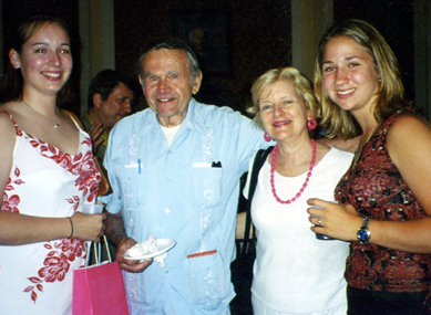 Sabrina and Kathleen with Polish rescuer in NYC.