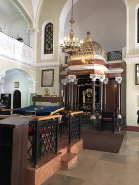 Nozyk Jewish Synagogue that was in the Warsaw Ghetto. It was built in the 19th century and was the only remaining synagogue after the war. Ironically, the Germans used this building as a stable for their horses