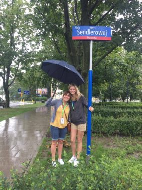Visiting the street named after Irena