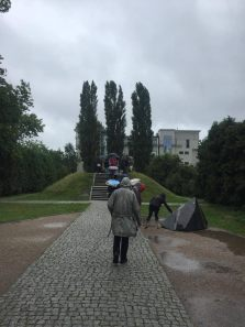 Visiting Mila 18, the site of the bunker where the fighters had their last stand in the Warsaw Ghetto