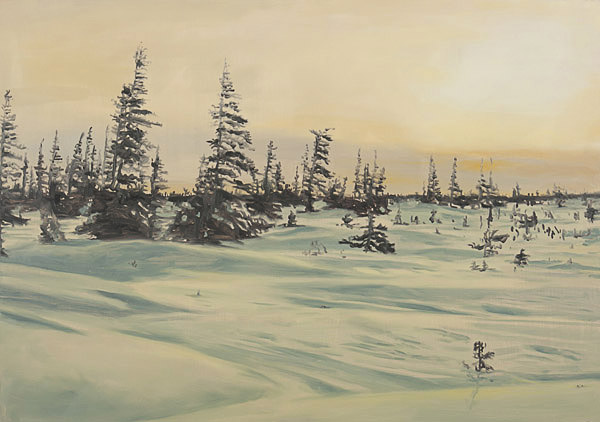 drawing-2011-landscape-snow-trees-on-my-way-to-your-place
