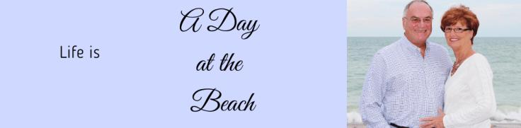 A day at the beach blog header