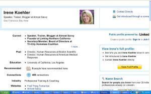 irenes li profile - Irene Koehler LinkedIn profile