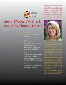 March12Flyer - Social Media program March 12