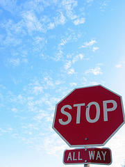 stop sign - stop sign