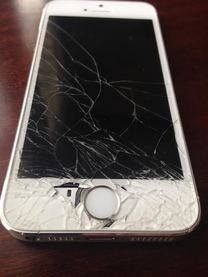 cracked iphone 5s screen