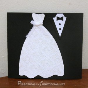 Handmade Wedding Card Ideas Dress And Tux Trifold