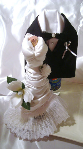 His And Hers Wine Bottle Covers Allfreediyweddings Com