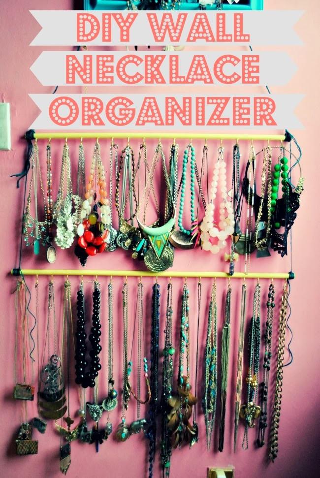 DIY Wall Necklace Organizer