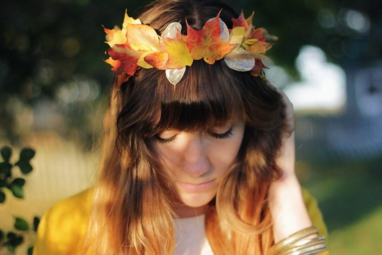 Fall in Love Autumn Leaf Crown | AllFreeDIYWeddings.com