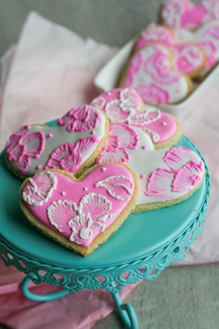 Floral Lace Sugar Cookie Wedding Favors Allfreediyweddings Com