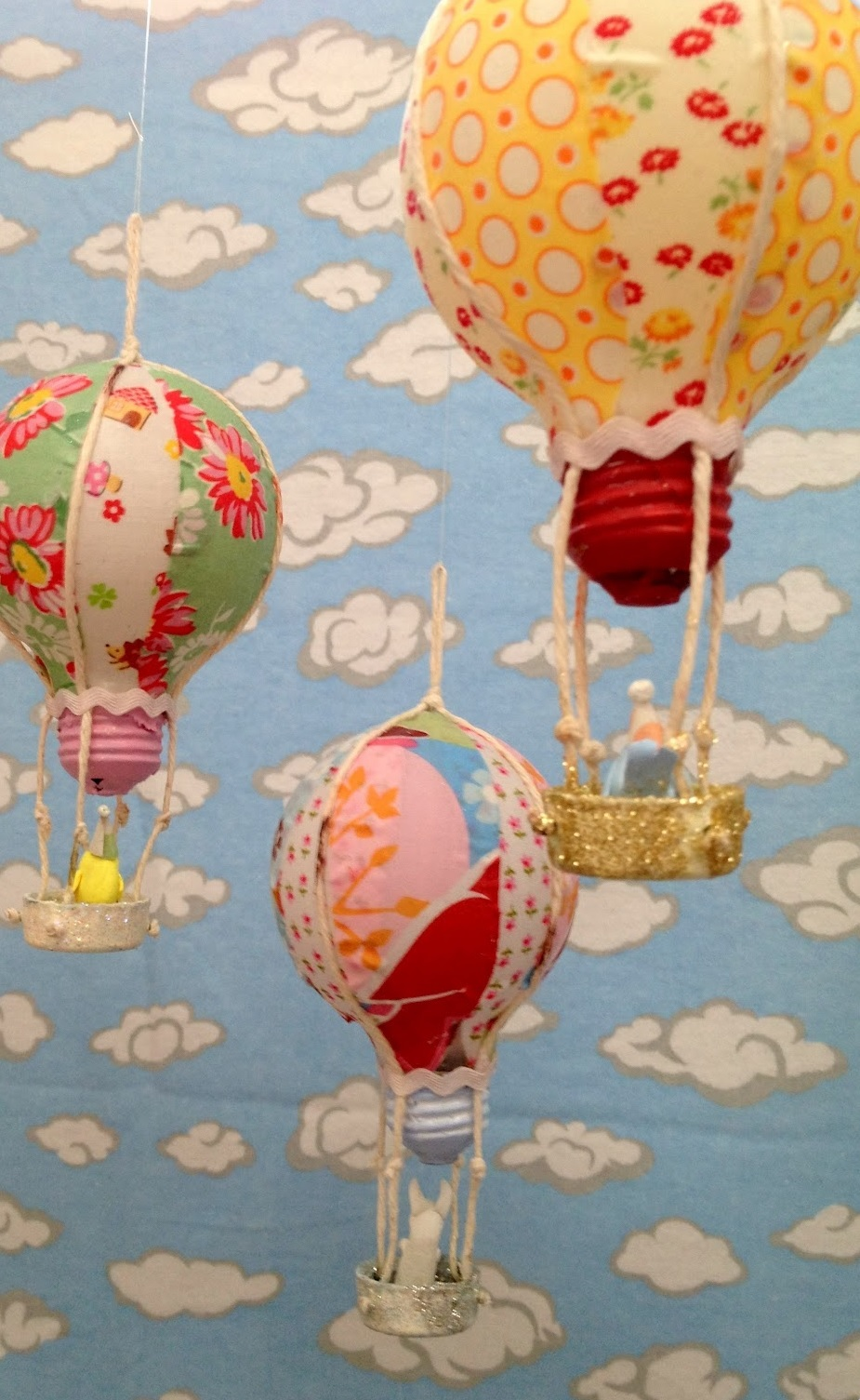 Recycled Bulb Hot Air Balloons