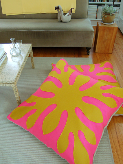 Hawaiian Style Felt Floor Pillows