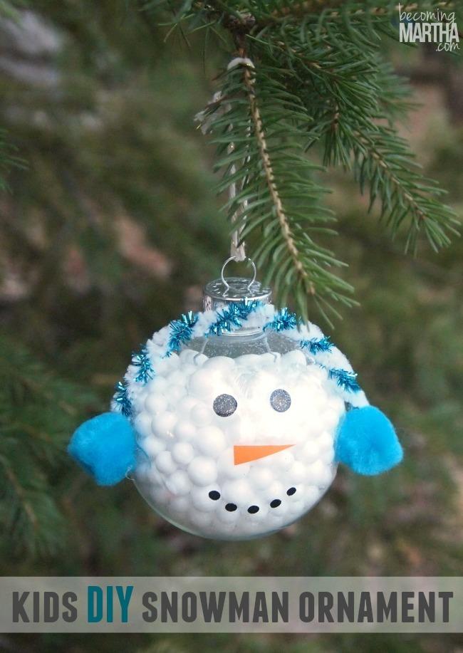Glitter Snowmen Ornaments