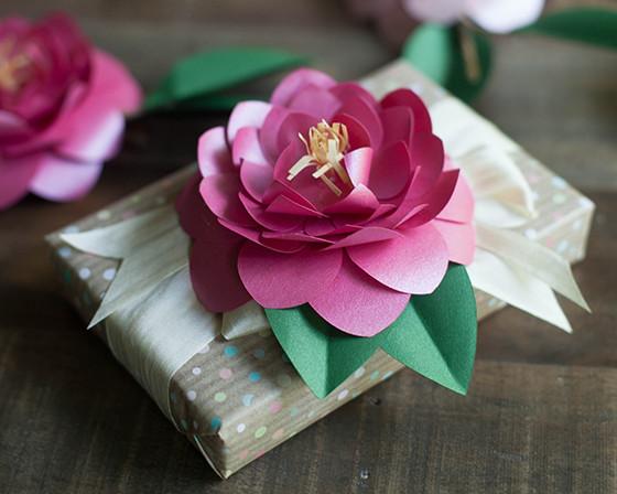 Camellia DIY Paper Flowers