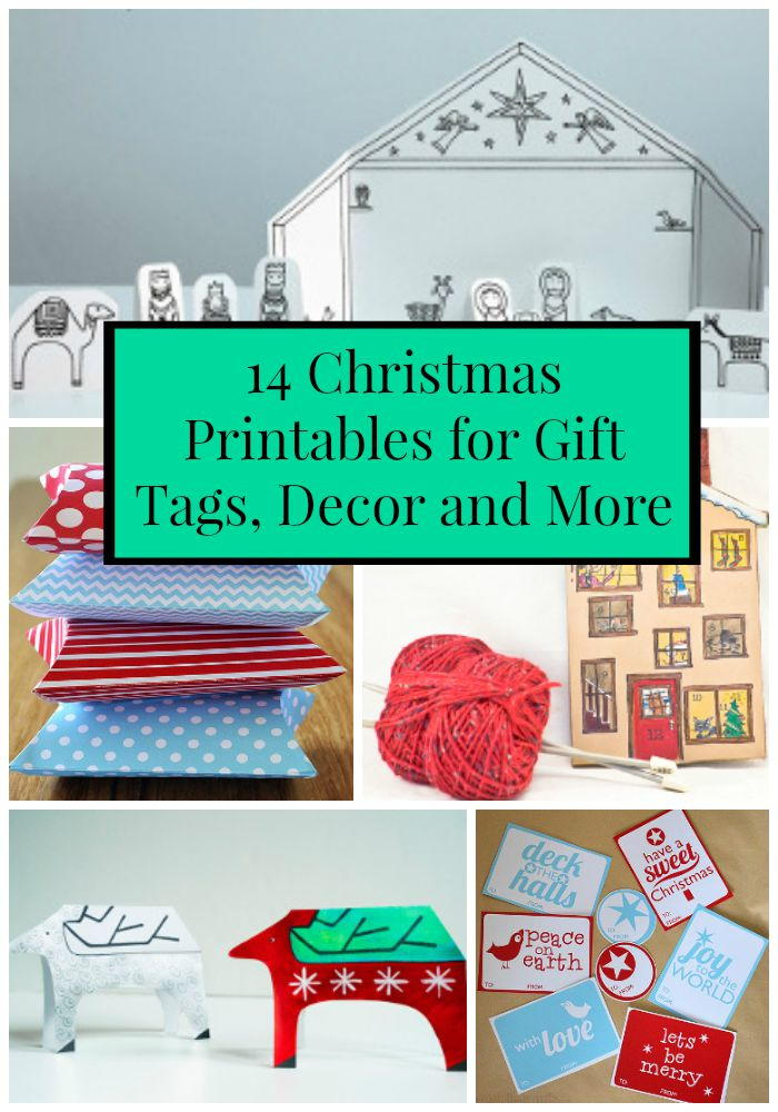 14 Christmas Printables For Gift Tags Decor And More