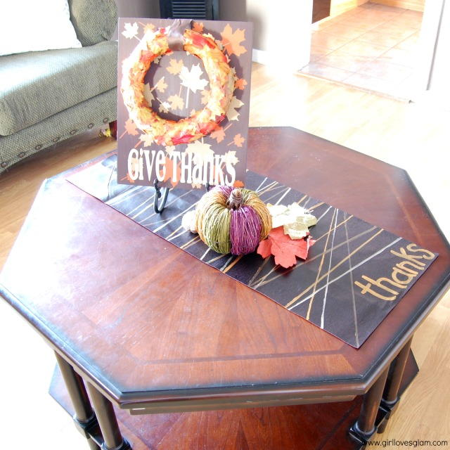 Easy Faux Leather Thanksgiving Table Runner