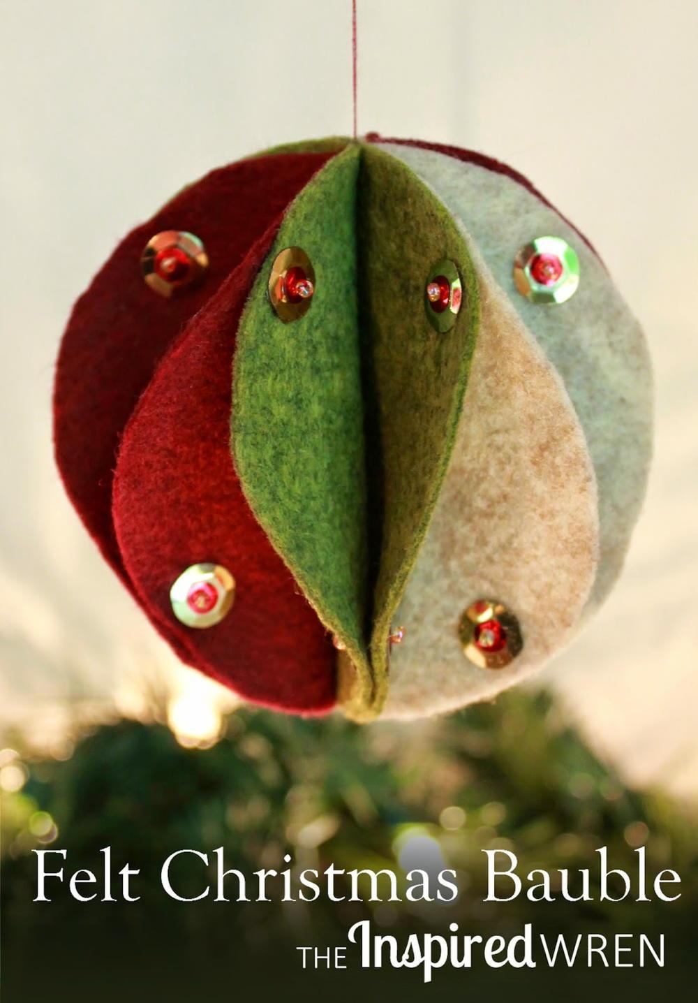 Festive Felt Christmas Bauble